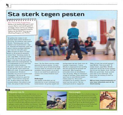 kidsweek reportage op bezoek bij de Sta sterk training