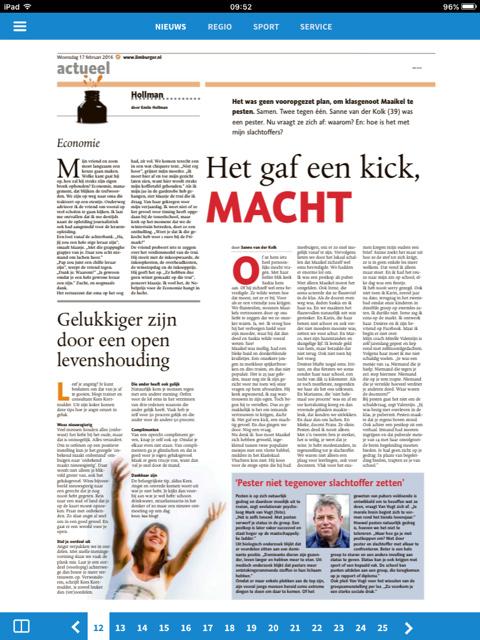 limburger artikel pestkop Sanne van der Kolk feb.16